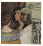 アテネの学堂 ラファエロ自画像
