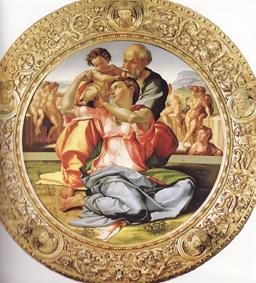ミケランジェロ<聖家族>ウフィツィ美術館所蔵