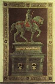 イタリア ドゥオモ パオロ・ウッチェロ 騎馬像記念碑
