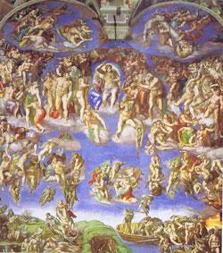 ミケランジェロ システィーナ礼拝堂 最後の審判