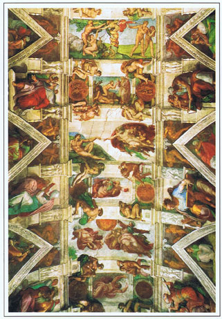 システィーナ礼拝堂の天井画 ミケランジェロ作