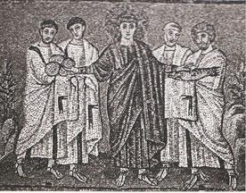 中世遠近法絵画の表現 壁画にみる象徴形式